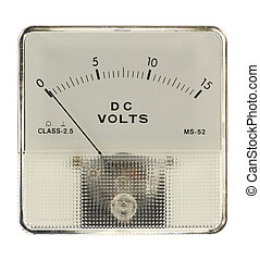 Voltmeter isolated in white
