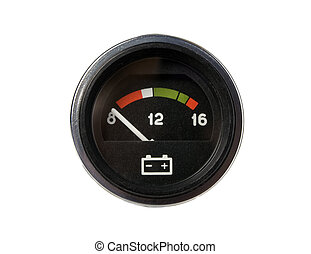 Voltmeter - There is a voltmeter for accumulator of car