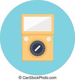 voltmeter vector colour flat icon