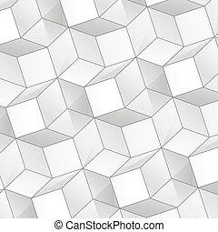 volume, abstratos, cubos, fundo, vetorial