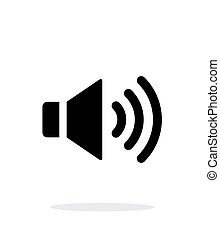 volume, achtergrond., spreker, max., witte , pictogram
