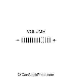 Volume adjustment icon isolated. Flat design. Vector Illustration