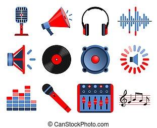 Volume And Audio Icons.
