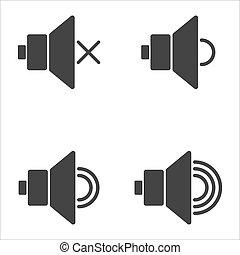 volume, apartamento, ícones