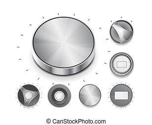 volume, bouton, commutateur, vecteur