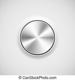 Volume button (knob) with metal texture (chrome) - Volume...