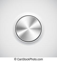 Volume button (knob) with metal texture (chrome)