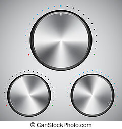 Volume button with metal texture