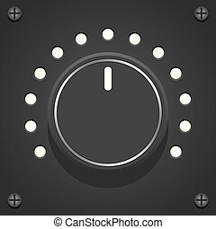 Volume Control - Layered vector illustration of black Volume...