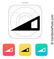 Volume control indicator icon.