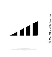 Volume control indicator icon on white background.