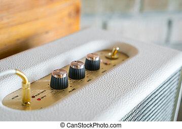 Volume control knob of hi-fi amplifier . - Volume control ...