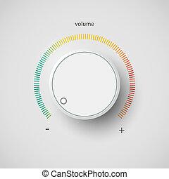 Volume control - Realistic metal control panel tumbler. ...