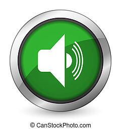 volume green icon music sign