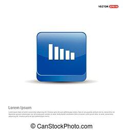 Volume Icon - 3d Blue Button