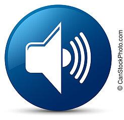 Volume icon blue round button