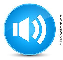 Volume icon elegant cyan blue round button