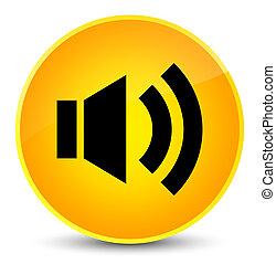 Volume icon elegant yellow round button