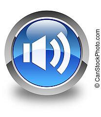 Volume icon glossy blue round button 2