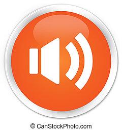 Volume icon orange button