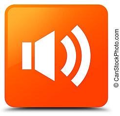 Volume icon orange square button