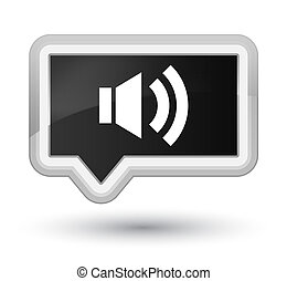 Volume icon prime black banner button