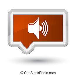 Volume icon prime brown banner button