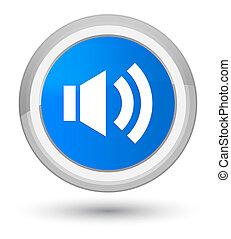 Volume icon prime cyan blue round button