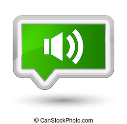Volume icon prime green banner button