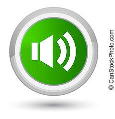 Volume icon prime green round button