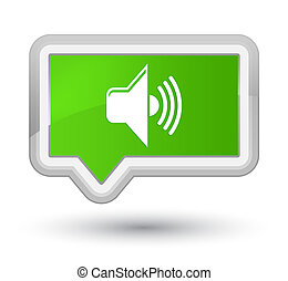 Volume icon prime soft green banner button