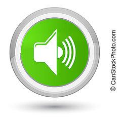 Volume icon prime soft green round button