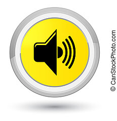 Volume icon prime yellow round button