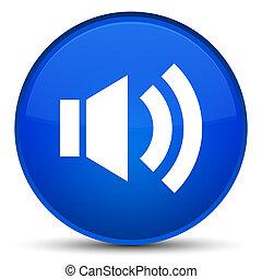 Volume icon special blue round button