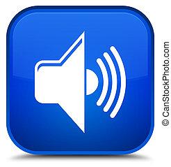Volume icon special blue square button