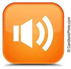 Volume icon special orange square button