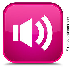 Volume icon special pink square button