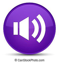 Volume icon special purple round button
