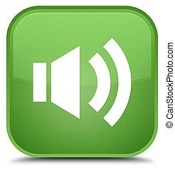 Volume icon special soft green square button