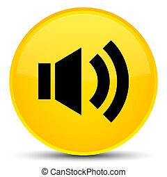 Volume icon special yellow round button