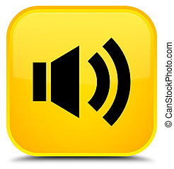 Volume icon special yellow square button