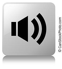Volume icon white square button