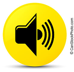 Volume icon yellow round button