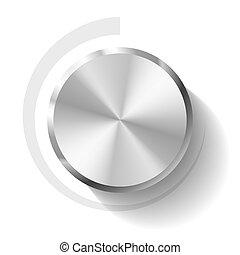Volume knob - Vector illustration of a volume knob