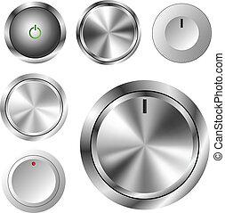 Volume knob set - Different type volume knob set eps10