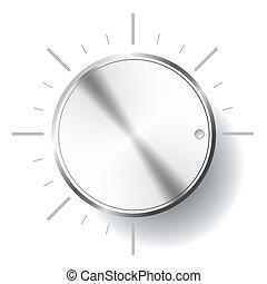 Volume knob. - Illustration of handle of regulation of...