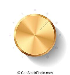 Vector illustration of a volume knob