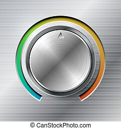 Volume knob with color scale