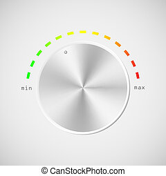 Volume level knob