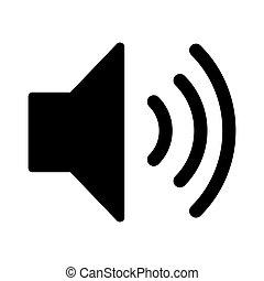 Volume max icon. Speaker icon on white background.
